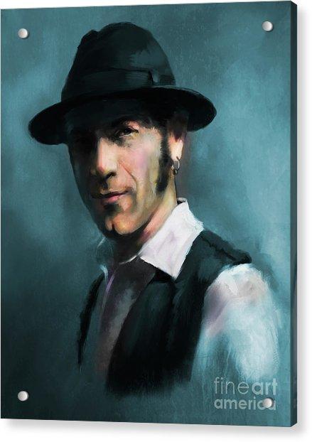 Acrylic Print featuring the digital art Mr. Marin by Dwayne Glapion
