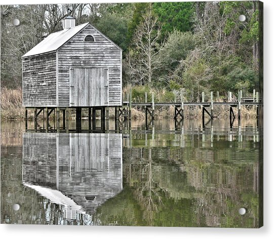 Jourdan River Boathouse Acrylic Print
