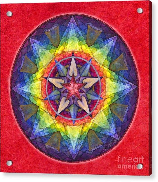Joy Mandala Acrylic Print