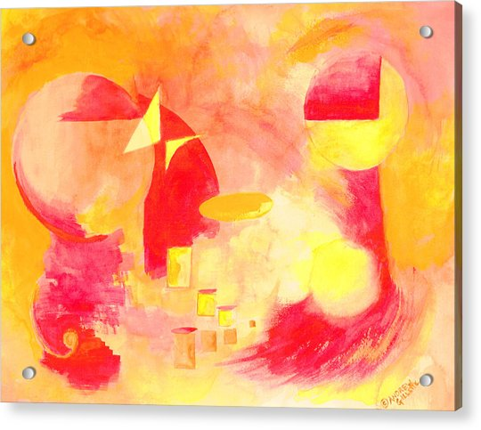 Joyful Abstract Acrylic Print
