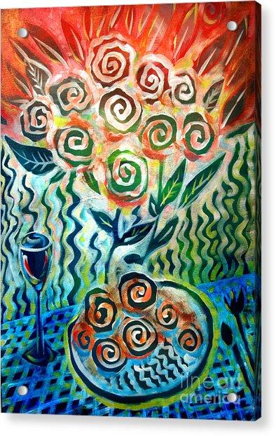 Joyful Wine Acrylic Print