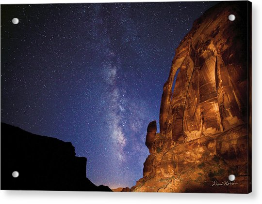Jug Handle Arch And The Milky Way Acrylic Print