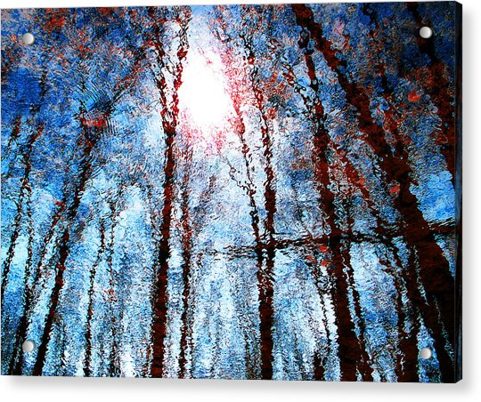 Jumbled Waters Acrylic Print
