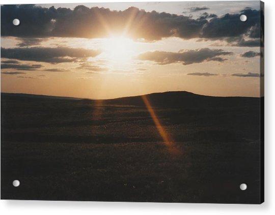 June Sun Rays North Dakota Acrylic Print by Gene Linder