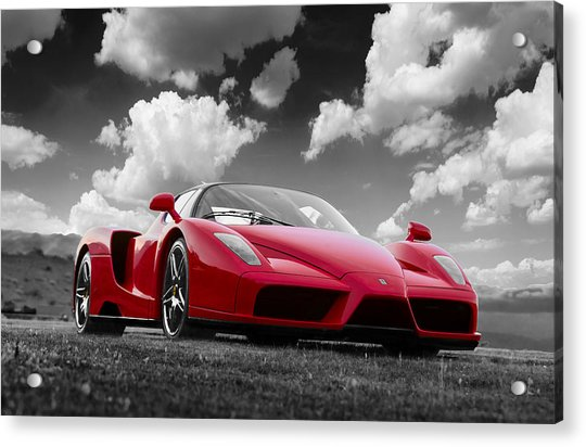 Just Red 1 2002 Enzo Ferrari Acrylic Print