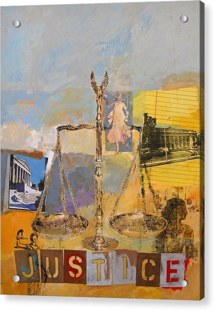 Acrylic Print featuring the painting Justice by Cliff Spohn
