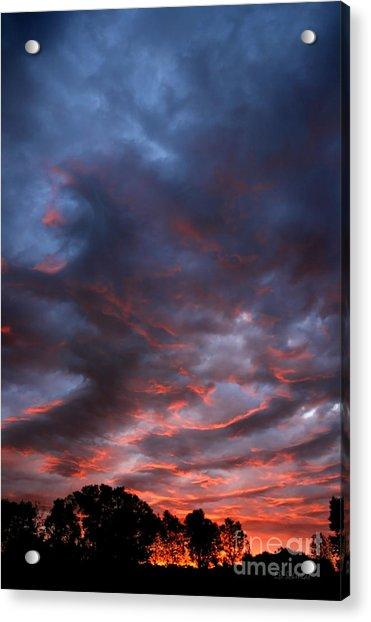 Kansas Sunrise Vertical Acrylic Print