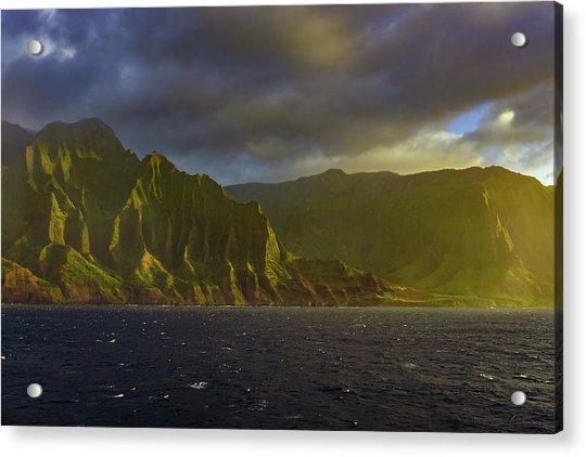 Kauai Golden Sunset Acrylic Print