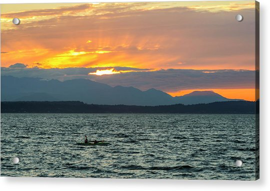 Kayaking In The Puget Sound Acrylic Print