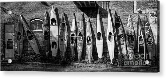 Kayaks And Canoes Acrylic Print