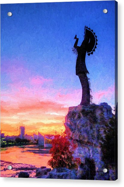 Keeper Of The Plains Acrylic Print