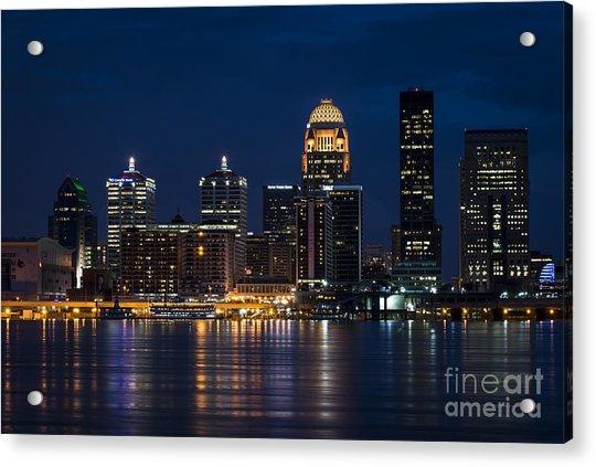 Louisville At Night Acrylic Print