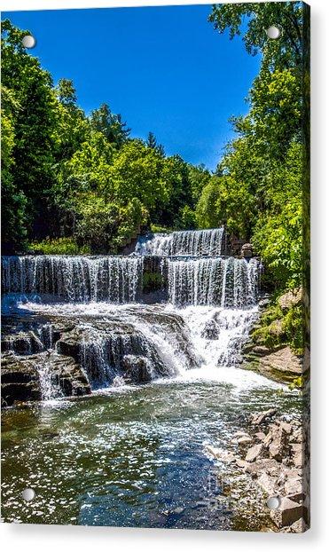 Keuka Outlet Waterfall Acrylic Print