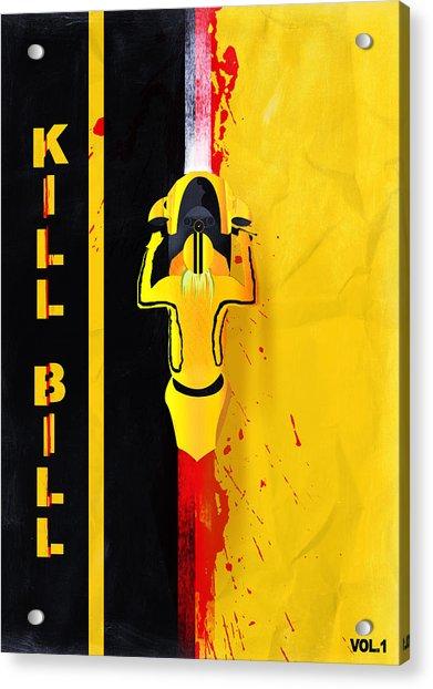 Kill Bill Minimalistic Alternative Movie Poster Acrylic Print