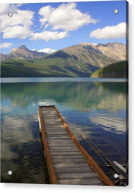Kintla Lake Dock Acrylic Print