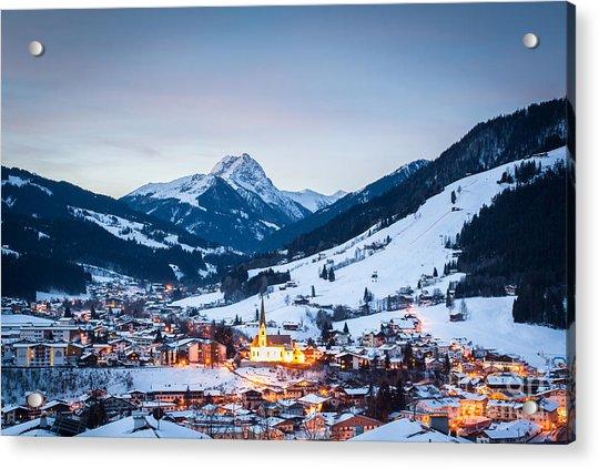 Kirchberg Austria In The Evening Acrylic Print