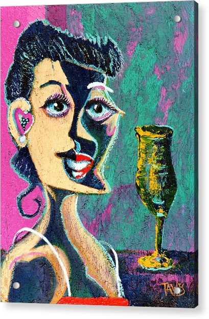 Kiss From The Night Acrylic Print by Dennis Tawes