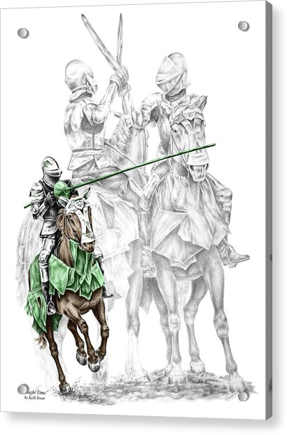 Knight Time - Renaissance Medieval Print Color Tinted Acrylic Print