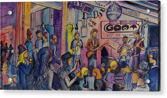 Kris Lager Band At The Goat Acrylic Print