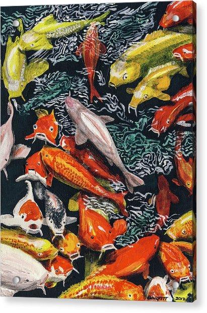 Kure Koi Pond Acrylic Print