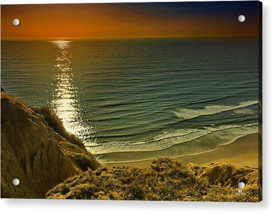 La Jolla Blacks Beach Sunset Acrylic Print