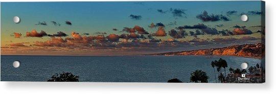 La Jolla Cliffs - Panorama Sunset Acrylic Print