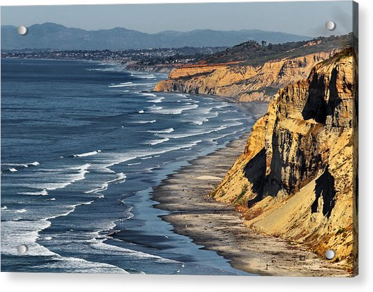 La Jolla Cliffs Over Blacks Acrylic Print
