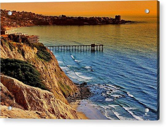 La Jolla Scripps Pier Sunset Acrylic Print
