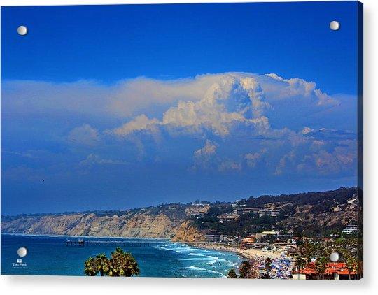 La Jolla Shores Thunderhead Acrylic Print