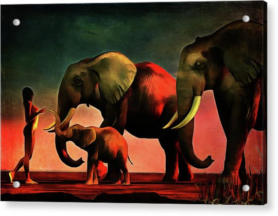 Acrylic Print featuring the painting La Rencontre by Jan Keteleer