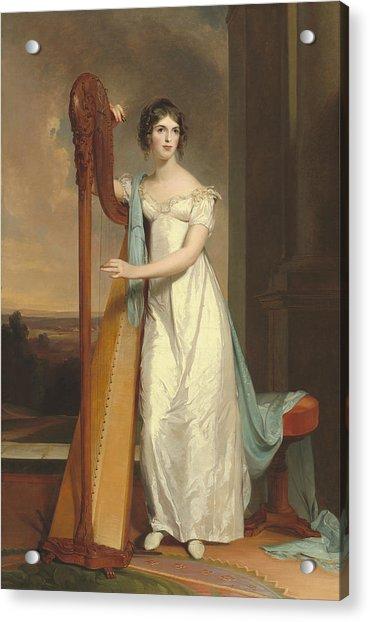 Lady With A Harp Acrylic Print