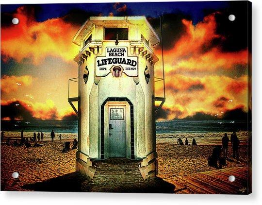 Acrylic Print featuring the photograph Laguna Beach Lifeguard Hq by Chris Lord