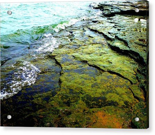 Lake Erie Flat Rocks  Acrylic Print