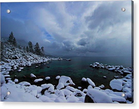 Lake Tahoe Snow Day Acrylic Print