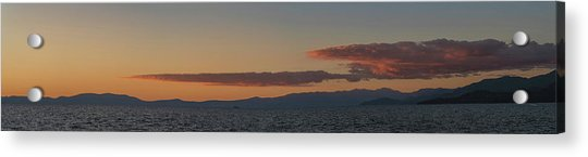 Lake Tahoe South Shore Panorama - 1 Acrylic Print