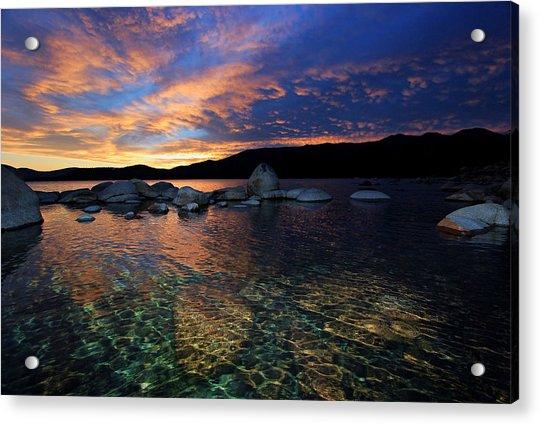 Lake Tahoe Sundown Acrylic Print