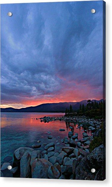 Lake Tahoe Sunset Portrait 2 Acrylic Print