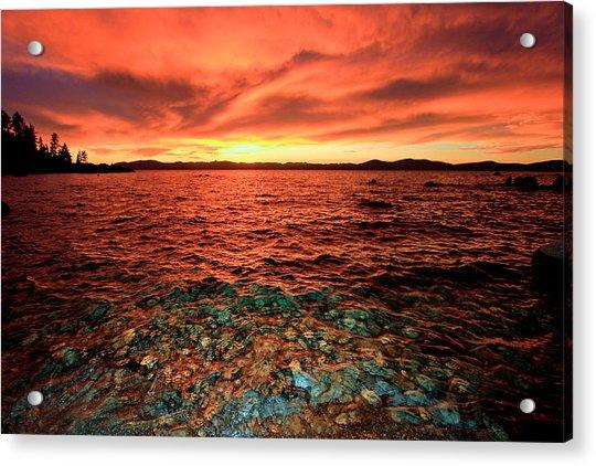 Lake Tahoe...blood Moon Sunset Acrylic Print