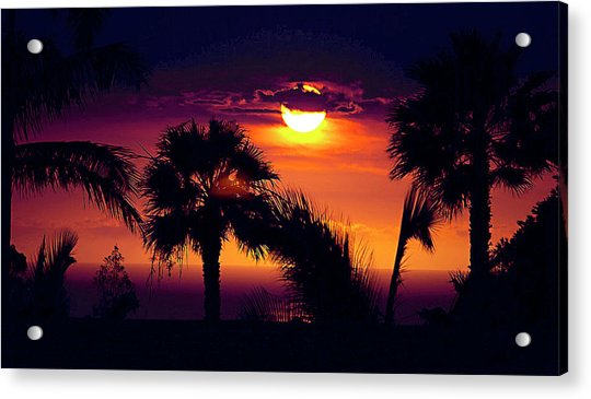 Lanai Sunset Acrylic Print
