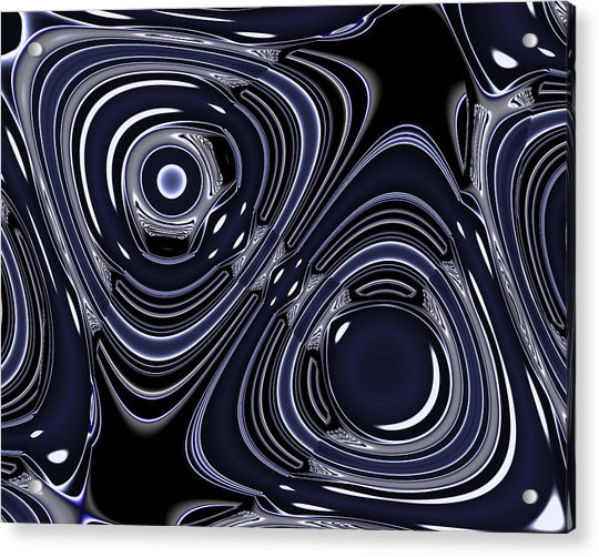 Lapis And Chrome Abstract Acrylic Print