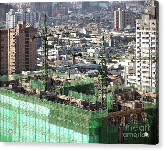 Large Scale Construction Site Acrylic Print