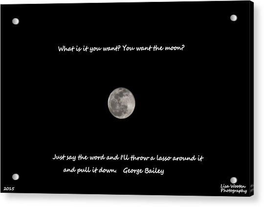 Lasso The Moon Acrylic Print