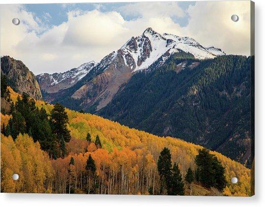 Last Light Of Autumn Acrylic Print