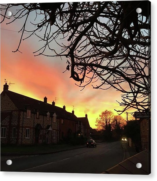 Last Night's Sunset From Our Cottage Acrylic Print