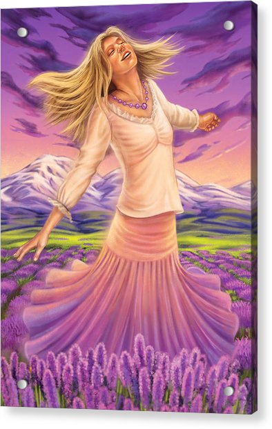 Lavender - Heal Through Joy Acrylic Print