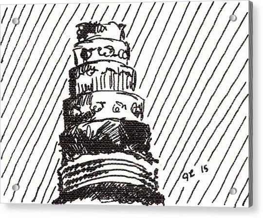 Layer Cake 1 2015 - Aceo Acrylic Print