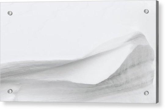 Layers Of Snow Acrylic Print