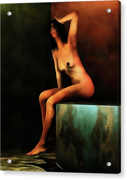Acrylic Print featuring the painting Le Bain Du Matin by Jan Keteleer