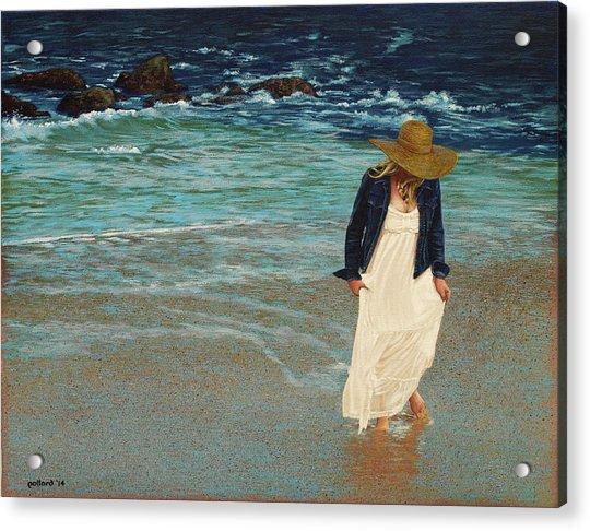 Leaving The Beach Acrylic Print