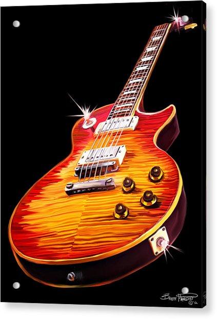 Les Paul Guitar Acrylic Print